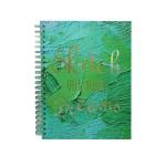 POP ARTZ HARD COVER SKETCH BOOK A4 125 GSM 60 SHEETS PA-HCS60-GREEN