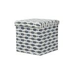 STORAGE BOX CUM CHAIR 38X38X38CM -FISH PL05S