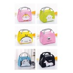 CARTOON INSULATED ZIPPER LUNCH BAG 21*17*15CM (RANDOM DESIGN)
