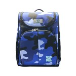 POP KIDS SCHOOL BAG - SCHOOLMATE CAMOUFLAGE BLUE