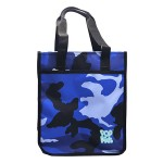 POP KIDS TUITION BAG WITH ZIP 28*12*33CM CAMOUFLAGE BLUE