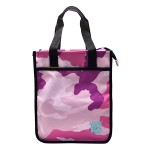 POP KIDS TUITION BAG WITH ZIP 28*12*33CM CAMOUFLAGE PINK