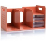 SDLP BOOK RACK WITH 2 DRAWER -  ORANGE