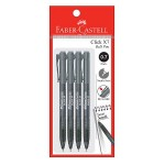 FABER-CASTELL Click X7 Ball Pen 4 Pieces in Pack - Poly Black