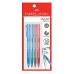 FABER-CASTELL Click X5 Ball Pen 4 Pieces in Pack - Assorted Colour