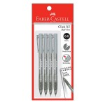 FABER-CASTELL Click X5 Ball Pen 4 Pieces in Pack - Poly Black