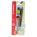Stabilo 3557 0.7mm Mechanical Pencil + Pencil Lead + Eraser (Random Color)