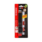 STABILO Micro 288 2B Pencil 6 Pieces + 1 Eraser + 1 Ruler + 1 Sharpener