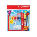 STABILO SWANS WITH NEON & METALLIC 24 COLOURS + MECHANICAL PENCIL 0.5MM SET