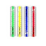 DOLPHIN TRANSPARENT NEON RULER 6 INCH DOL230052 (RANDOM COLOR)