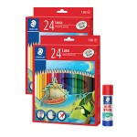 STAEDTLER LUNA COLOURED PENCILS 24 LONG (TWIN PACK)
