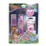 DISNEY SOFIA THE FIRST STATIONERY SET WITH HAIR ACCESSORIES