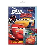 CARS-SPEED CENTRAL ACTIVITY & COLOURING BOOK SET (WITH COLOUR PENCIL)