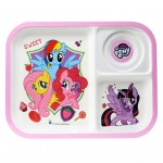 MY LITTLE PONY 3 WAY SECTION TRAY