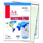 UNI S6061 Section Pad A4 30 sheets