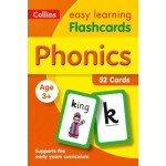 Easy Learning Phonics Flashcards: 52 Cards