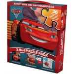 Disney Pixar Cars 3 2-in-1 Puzzle Pack: Activity Book and 2-in-1 Jigsaw Puzzle