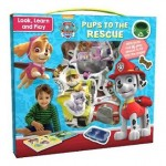 Nickelodeon PAW Patrol Look, Learn and Play: Pups to the Rescue: With Book and 16 Play Pieces to Fit into the Pages