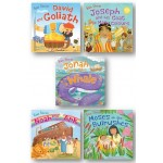 Bible Stories in Fabric Bag (5 PICTURE BOOKS)