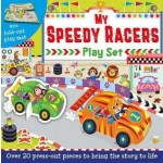 PRESS-OUT & PLAY BOARD : MY SPEEDY RACERS PLAY SET