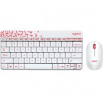 LOGITECH MK240 NANO WIRELESS KEYBOARD & MOUSE COMBO WHITE