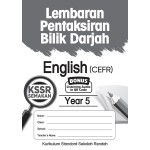 Tahun 5 Lembaran Pentaksiran Bilik Darjah English CEFR