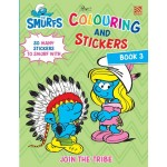 THE SMURFS:COLOURING&STICKERS BK 3