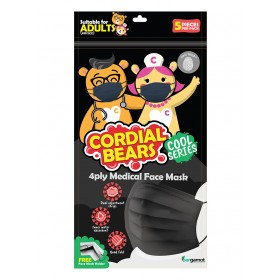 CORDIAL BEAR 4 PLY MEDICAL ADULT FACEMASK 5'S