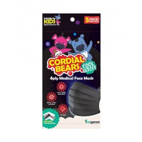 CORDIAL BEAR 4 PLY MEDICAL KIDS FACEMASK 5'S