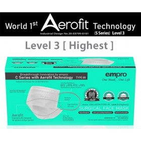 EMPRO SURGICAL FACE MASK 50'S (WHITE)
