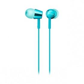 SONY MDR-EX155AP WIRED EARPHONE LIGHT BLUE