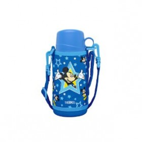 THERMOS DISNEY MICKEY DUAL STOPPER BOTTLE WITH POUCH 600ML