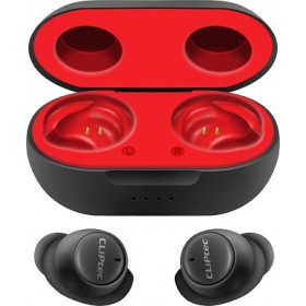 CLIPTEC BTW 303 Capsule True Wireless Earbuds-Red