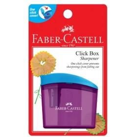 FABER-CASTELL CLICK BOX SHARPENER BLISTER (RANDOM COLOUR)