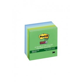 3M POST-IT SUPER STICKY NOTES, 3 IN. X 3 IN., BORA BORA COLLECTION