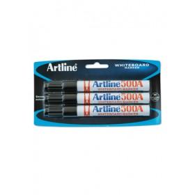 ARTLINE 500A Whiteboard Marker (Bullet) 3 Pieces in Pack - Black