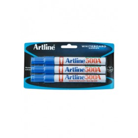 ARTLINE 500A Whiteboard Marker (Bullet) 3 Pieces in Pack - Blue