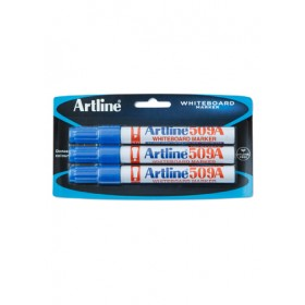 ARTLINE 509A Whiteboard Marker (Chisel) 3 Pieces in Pack - Blue