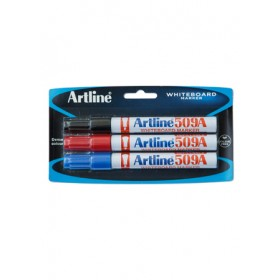 ARTLINE 509A Whiteboard Marker (Chisel) 3 Pieces in Pack - Assorted Colour