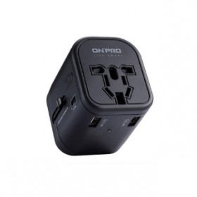 ONPRO UC-IT3U1C 5-IN-1 UNIVERSAL TRAVEL ADAPTER BLACK