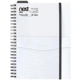 FOLDERMATE NEST SERIES SPIRAL NOTE BOOK A5 - WHITE