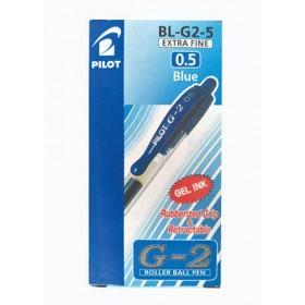 Pilot G2 Gel Pen 0.5mm Blue in Dozen Pack (12 pieces)