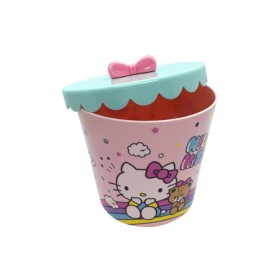 HELLO KITTY STORAGE POT WITH LID- ROUND 147*141*141MM CFX2-KT