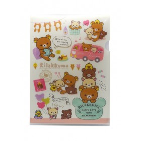 RILAKKUMA L SHAPE FOLDER A4 220*310MM FA01302