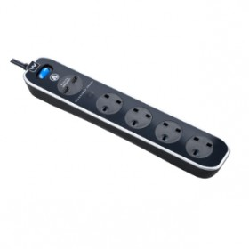 MASTERPLUG SURGE PROTECTOR 4 GANG 2 USB (3.1A) 2 METER EXTENSION LEADS POLISHED BLACK (SRGLSU42PB-MPA)