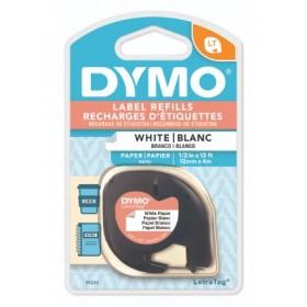 DYMO LETRATAG TAPE - PAPER, WHITE