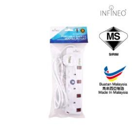 INFINEO 4 Way Socket Extension (2 Meter)
