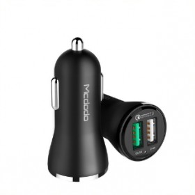 MCDODO CC491 QC3.0 2USB CAR CHARGER BLACK