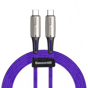 BASEUS CATSD-J05 TYPE-C TO TYPE-C CABLE 60W 3A 1METRE PURPLE