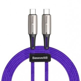 BASEUS CATSD-K05 TYPE-C TO TYPE-C CABLE 60W 3A 2METRE PURPLE